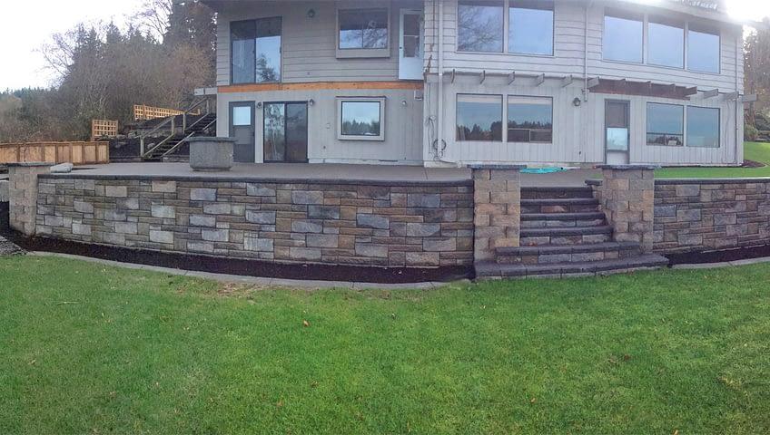 residential retaining wall