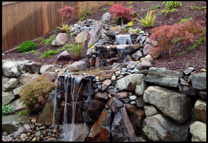 back yard waterfall