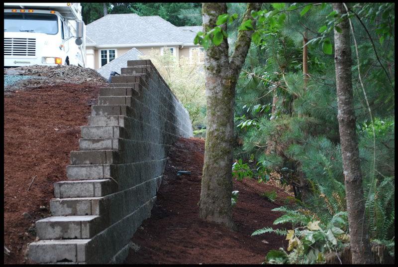retaining wall gig harbor